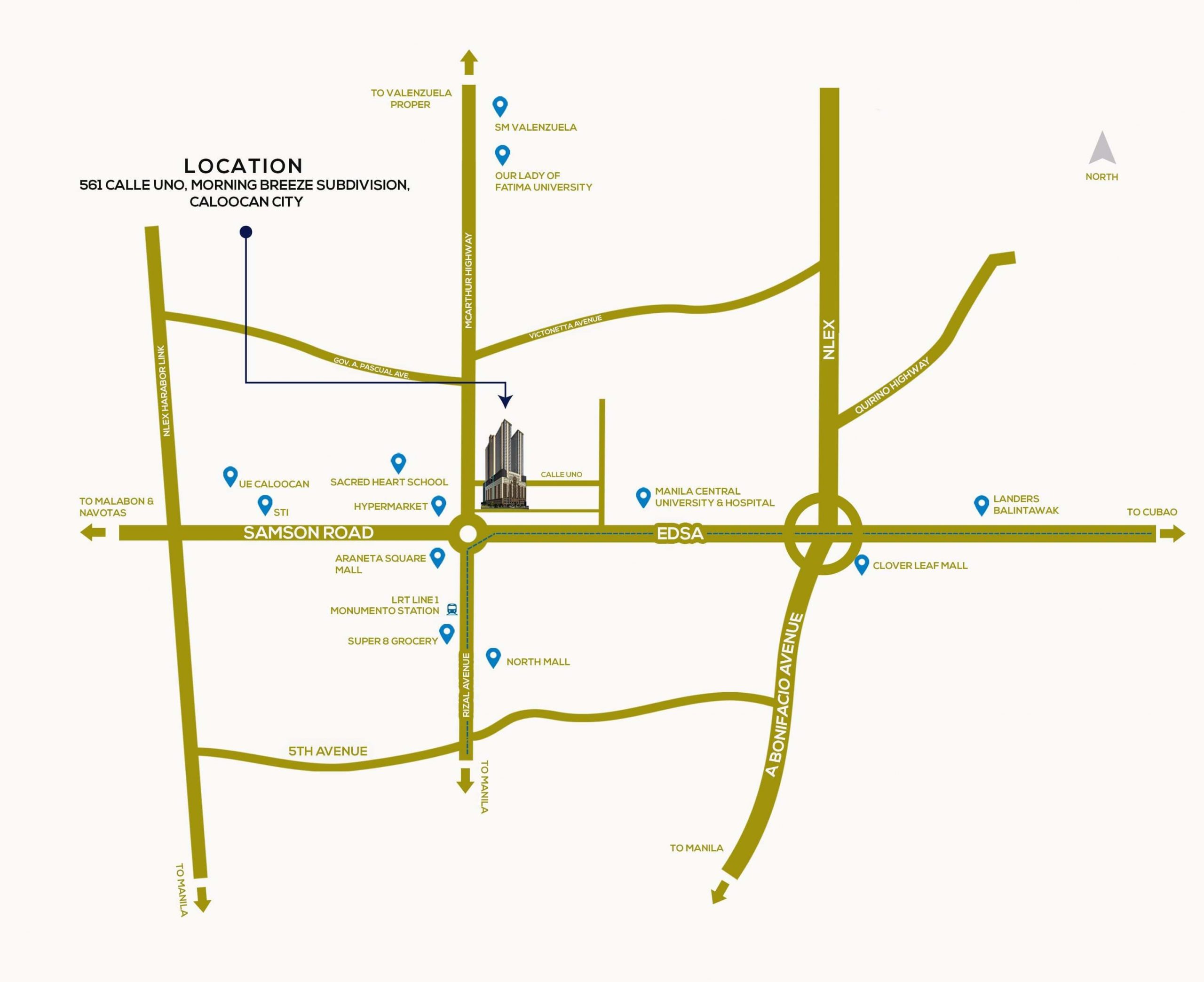 Victoria Sports Tower Monumento Location Map